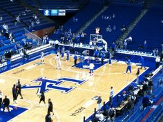 UK v. Providence, 11/30/2014.Cats warming up, pre-game. I wrote a small part of Distilled Heat while waiting for the game to begin. My seat in the row was #9. Of course we won.