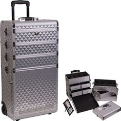 Travel Case for Tattoo and Piercing Conventions All SILVER :: Tattoo Instruments - Bottles - Bags - Cases :: Tattoo Supplies :: Painful Pleasures, Inc.