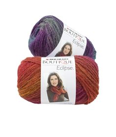 Boutique Eclipse Yarn | Red Heart.  Beautiful medium wt yarn self striping.  Gorgeous colors.