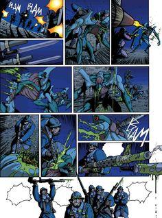 "Page 44 from ""Le reverse de la medaille"". Tome III. Text: JD Morvan. Art: Stefano Tamiazzo. #stefanotamiazzo #delcourt #morvan #bd #manga #comics #fumetti #lamandiguerre #steampunk"