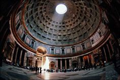 """Pantheon in Rome. """"The world's largest unreinforced concrete dome."""" 2000 years old."""