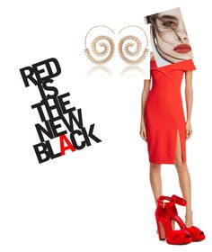 """""""Red New Black"""" by zavalle on Polyvore featuring Bardot, Alexander McQueen and Lily Jean"""