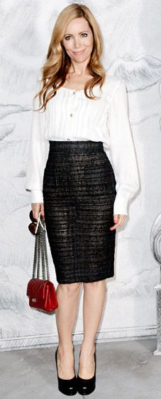 Leslie Mann in head to toe Chanel. Perfection.