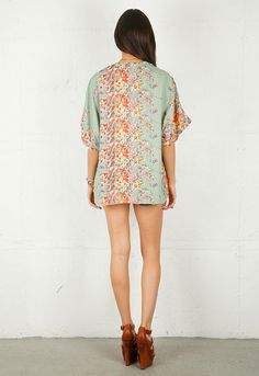 Lovers + Friends Lovebirds Kimono in Springtime Floral (love, but would choose to wear pants with mine)