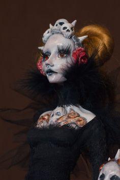 OOAK Grim Reaper Art Doll Sculpt by MajesticThorns on Etsy
