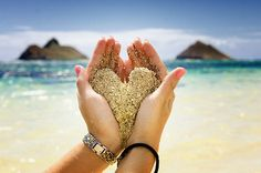 Sand and sea #heart #holiday #sand