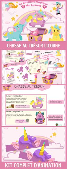 Chasse au trésor licorne mixte pour anniversaire, loisirs et goûter organisé. Kit complet à télécharger et imprimer. Jeu licorne à imprimer. Little Girl Birthday, Baby Birthday, Birthday Parties, Diy Organisation, Image Notes, Pajama Party, Kinds Of Salad, Paper Toys, Babysitting