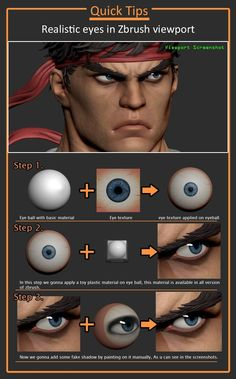 Drawing Tips Realistic eye texture in zbrush tutorial - Ryu, by sumit malhotra, ArtStation - Sculpting Tutorials, Eye Drawing Tutorials, Digital Painting Tutorials, Drawing Tips, Art Tutorials, Digital Paintings, Tutorial Zbrush, Eye Texture, Realistic Eye Drawing