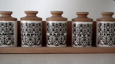 Mid Century Set of spice jars