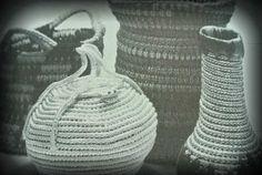 Del Feldman Crochet Spiral Vases from Hard Crochet