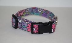 Flower Dog Collar Flower Field Dog Collar Multi by PawesomePups