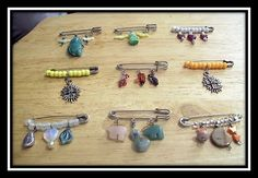 Safety Pin Jewelry with real gemstones.