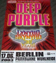| DEEP-PURPLE~Lynyrd-Skynyrd-Tour-Poster-BERLIN-17-06-2003