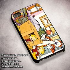 Calvin & Hobbes With Duplicator Machine - For iPhone 4/ 4S/ 5/ 5S/ 5SE/ 5C/ 6/ 6S/ 6 PLUS/ 6S PLUS/ 7/ 7 PLUS Case And Samsung Galaxy Case