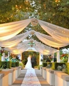 Browse our outdoor wedding ceremony photo gallery for unique outdoor wedding pictures. Find the perfect outdoor wedding ideas and get inspired for your wedding. Wedding Wishes, Wedding Bells, Wedding Events, Wedding Ceremony, Our Wedding, Dream Wedding, Outdoor Ceremony, Wedding Entrance, Luxury Wedding