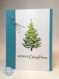 Stamp with Sandy: CAS Color Layering Christmas Tree, Stamp Set by Hero Arts