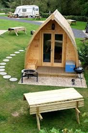 The best of British rock – pitching up at Stonehenge - Glamping pod, Stonehenge Caravan Park Those are so pretty, something with wood Is attractive. Tiny Cabins, Tiny House Cabin, Stonehenge, Garden Pods, Arched Cabin, Camping Pod, Camping Glamping, Campsite, Firewood Shed