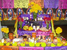 Ideas Actuales, Fourth Birthday, Day Of The Dead, Wicca, Culture, Halloween, Painting, Decor, Altars