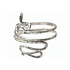 Snake Arm Cuff Arm Cuff Armlet Wrap Coachella Mystical Rapture Snake... ($42) ❤ liked on Polyvore featuring jewelry, bracelets, brass jewelry, sterling silver snake jewelry, silver jewelry, sterling silver jewellery and adjustable bangle