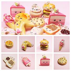 Kawaii Charms Miniature Food Jewelry Polymer Clay Handmade by Sweet Clay Creations