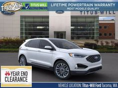 New 2020 Ford Edge For Sale at Titus-Will Ford | VIN: 2FMPK4K97LBB53405 New Ford Edge, 2020 Ford Ranger, Certified Pre Owned, Aluminum Wheels, Fuel Economy, Car Seats, Vehicles, Car