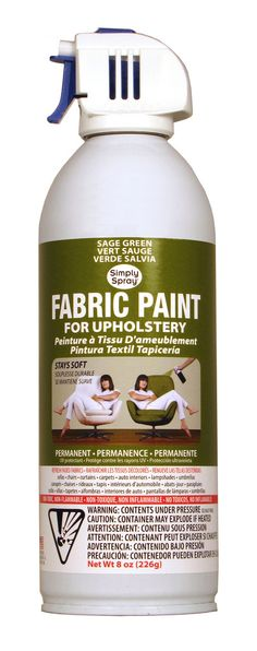 Sage Green Upholstery Fabric Paint by spray it new Not this color, but yay!