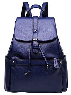 Coofit Women's Fashion Travel Bag Leather College Backpack Shoulder Bag Dark Blue Coofit http://www.amazon.com/dp/B015ISBFIE/ref=cm_sw_r_pi_dp_uirWwb0J3V0B0