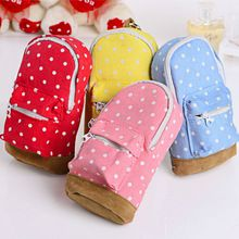 Mini School Bag Students Pen Case Canvas Pencil Case Children Stationery Bags Free Shipping(China (Mainland))