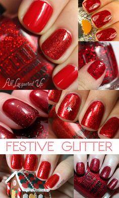 Glitter Tyler The Creator Glitter Girl, Glitter Cake, Glitter Nails, Glitter Flats, Christmas Nail Art, Holiday Nails, Red Nails, Hair And Nails, Mani Pedi