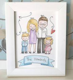 "10 Likes, 1 Comments - The Fox & The Paintbox (@thefoxandthepaintbox) on Instagram: ""❤ #familyportrait #watercolourillustration #illustrator #etsyseller #smallbusinessowner #shopsmall…"""