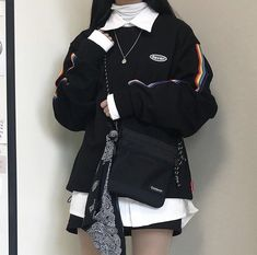 Gothic Outfits, Edgy Outfits, Korean Outfits, Cool Outfits, Fashion Outfits, Womens Fashion, Ulzzang Fashion, Asian Fashion, Steampunk Jacket