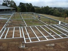 A great example of Boxspan Steel Frame and EziPiers being used on a steep site