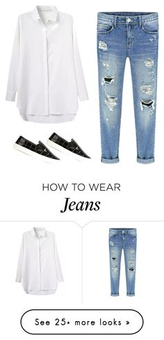 """How to style boyfriend jeans 1"" by fashsionfantasy on Polyvore featuring Tory Burch"