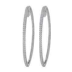 Shop for Divina 14k White Gold 1ct TDW Diamond Hoop Earrings. Get free delivery at Overstock.com - Your Online Jewelry Destination! Get 5% in rewards with Club O! - 17409877