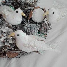 Vianočné ozdoby vtáčiky 3 ks 12 cm