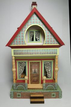 Quarter Scale Bliss Keyhole House Class/Kit [OC-QSBLISS] : Cynthia Howe Miniatures!, Your premier source for Dollhouse Miniatures, Miniature Classes, Miniature Dolls and Molds, Kits and Free Tutorials.