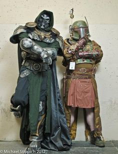 Steampunk Doctor Doom and Silent Boba Fett