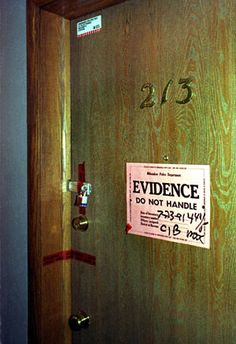 "Jeffrey Dahmer's apartment: ""As they walked down the blue-carpeted hallway on the second floor of the apartment building, the officers became starkly aware of an awful, putrid stench that grew stronger with each step that took them closer to apartment 213. The smell was almost unbearable by the time they reached the door of the apartment, and when the lone occupant opened it, the odor nearly overwhelmed both lawmen."""