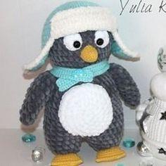 Пингвин амигуруми крючком