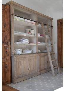Knihovna D158 & D158 schůdky & D158 spodní díl Designers Guild, Ladder Bookcase, China Cabinet, Shelves, Storage, Showroom, Furniture, Home Decor, Purse Storage
