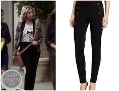 Shop Your Tv: Pretty Little Liars: Season 3 Episode 17 Hanna's Black Buttoned Sailor Pants Lying Game, Pretty Little Liars Seasons, Sailor Pants, Other Outfits, Black Button, Flare Skirt, My Outfit, Tv Shows, Black Jeans