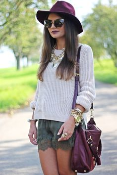 FashionHippieLoves: outfit: nude/burgundy/khaki autumn colours