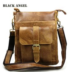 Nubuck genuine leather men bag casual man crossbody bag vintage men's shoulder messenger leather briefcase bags