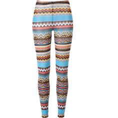 Multi Inca Print Leggings ($4.95) ❤ liked on Polyvore featuring pants, leggings, bottoms, jeans, calças, all over print leggings, patterned leggings, patterned trousers, stretch waist pants and elastic waist pants