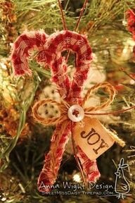 A new twist on the homespun candy cane candy canes craft and plaid cloth candy cane publicscrutiny Choice Image