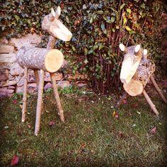 Animalitos del jardín #madera #valledebenasque