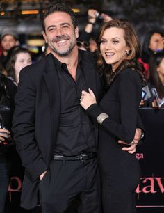 Jeffrey Dean Morgan and his wife Hilarie Burton