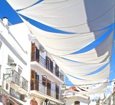 Nerja streets under shade during summer months