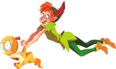 princesas-disney-pokemon-crossover-peter-pan-e-Scraggy-por-Krista Nicholson.