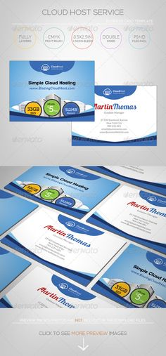 Cloud Hosting Service - Business Card Template  #GraphicRiver         [ Cloud Hosting Service – A4 Bi-Fold Brochure Template ]   3.5×2.5in +0.25in Bleed, CMYK Print Ready.   Photoshop PSD CS2 or higher – 300DPI  Indesign Indd & Idml for CS4 or higher   Easy to customize and Change Color  Excellent for your multipurpose corporate usage.  Font used: Lato,Clemente,Museo Slab                        Exclusive on Graphicriver Only.  Preview images/photos/Logos are not included, for illustration…